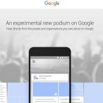 Google Post, the news from Google based on sharing search results